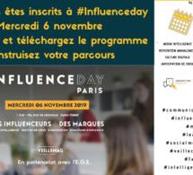 Vous vous êtes inscrits à Influence-Day 6 novembre 2019. Téléchargez le programme